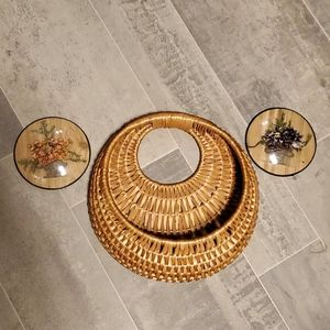Dried Round Flower Pictures & Wall Boho Basket